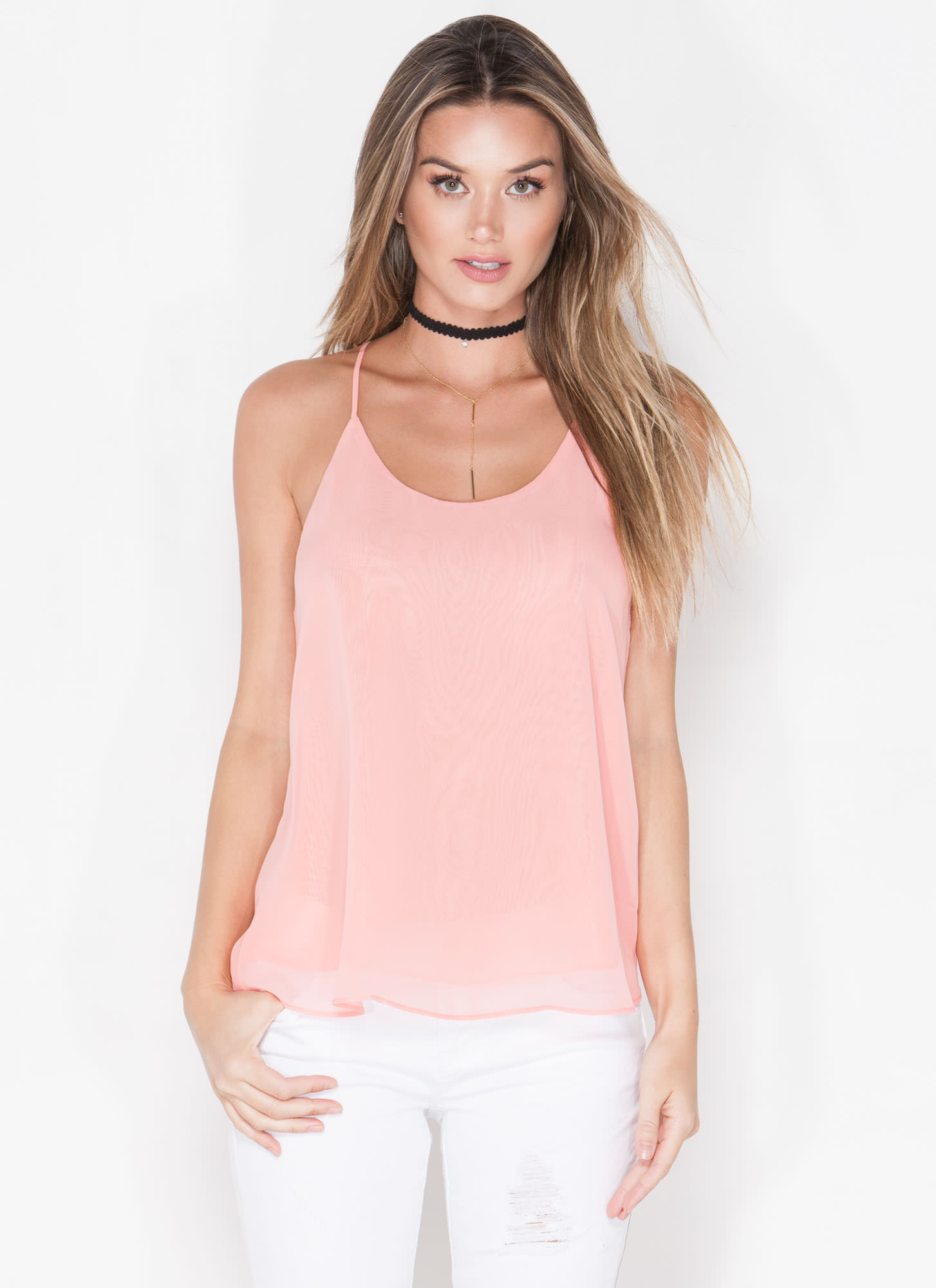 Modern Girl Cut-Out Tank