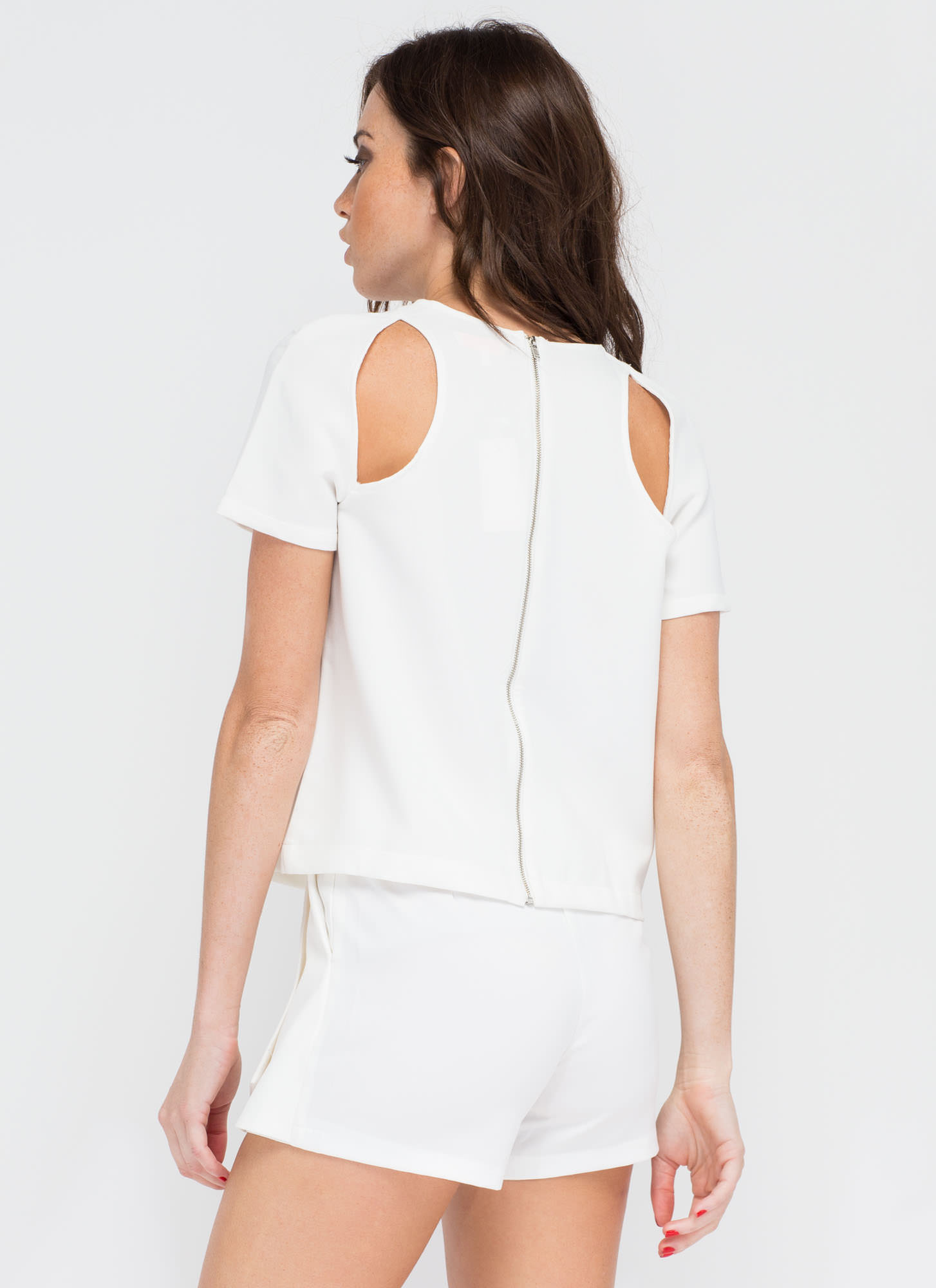 Bare Facts Cut-Out Crop Top