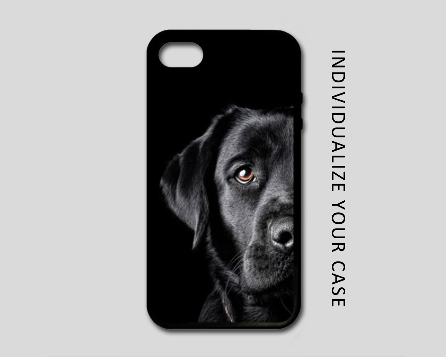 Black Lab iPhone Case