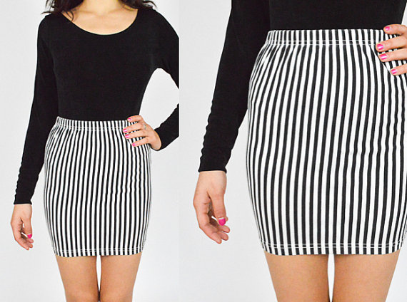 Calvin Klein Black & White Mini Skirt