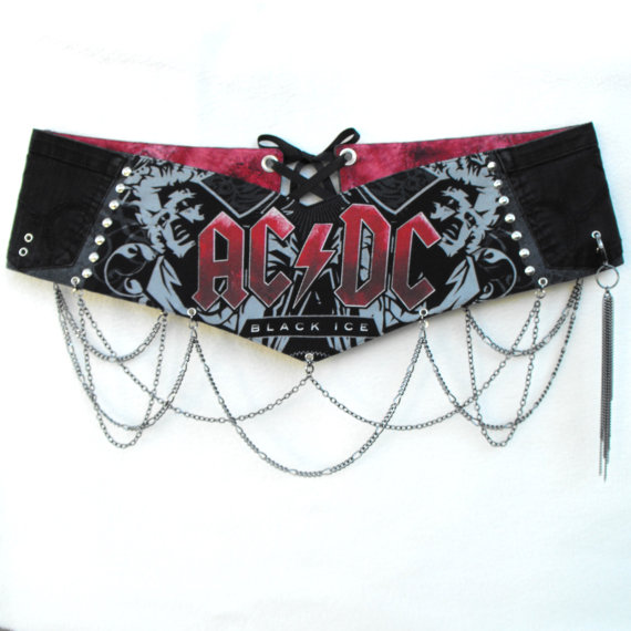 ACDC Graphics Rock & Roll Belt
