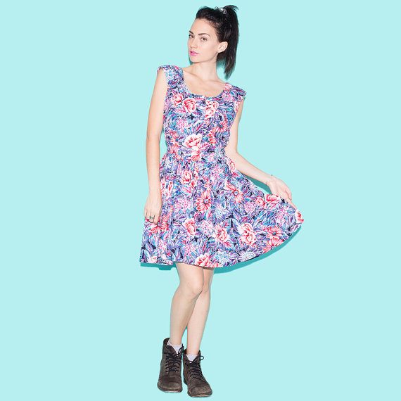 Cotton Floral Summer Dress