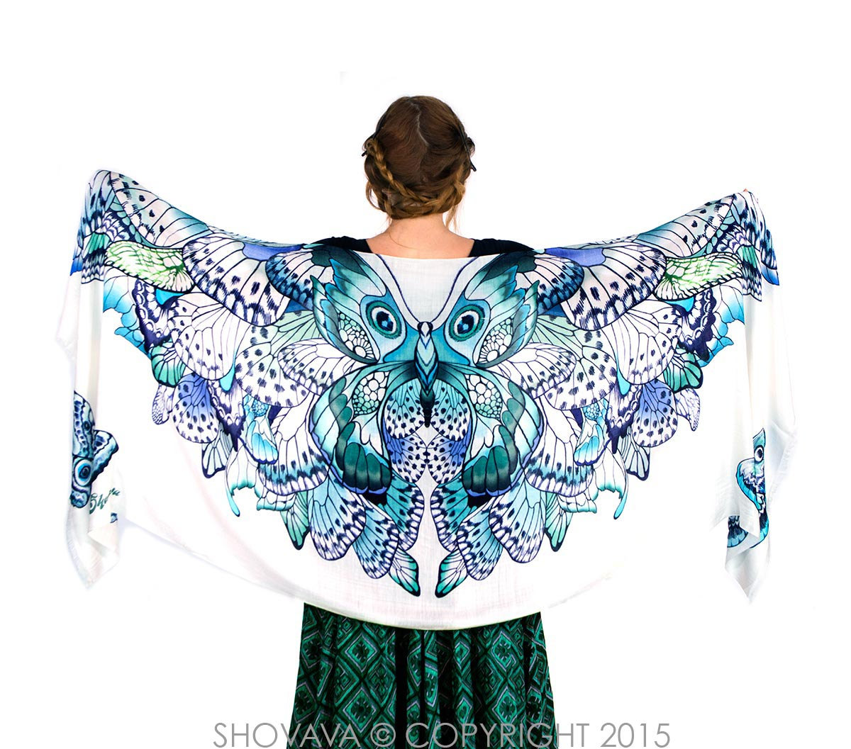 Gorgeous Butterfly Wings Scarf