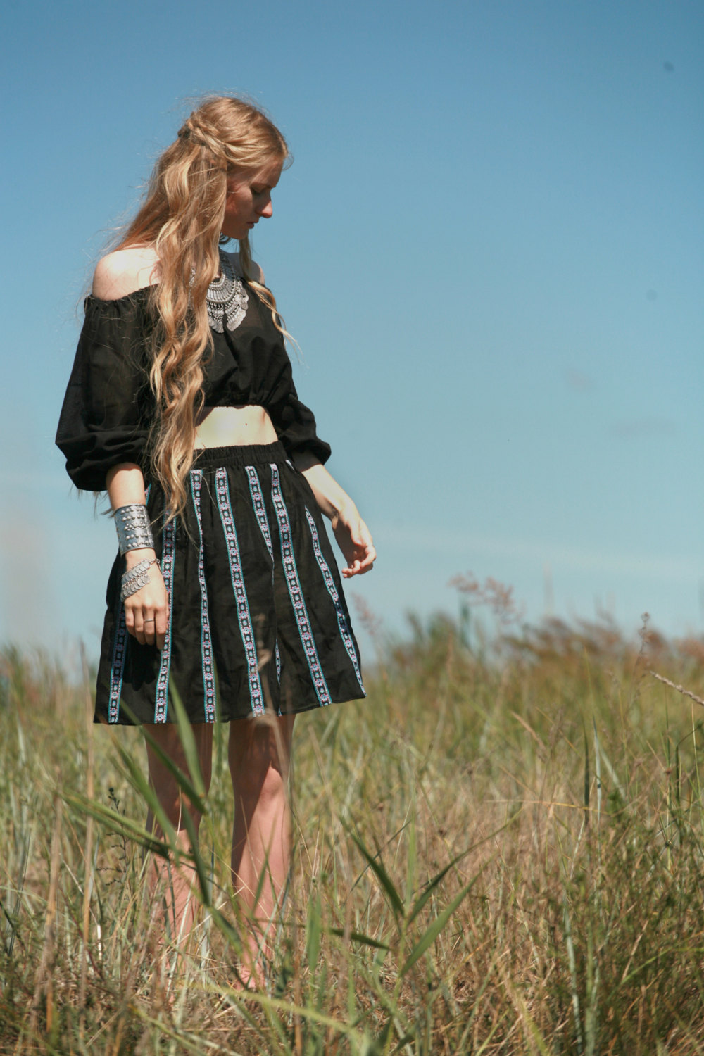 Black Tribal Ribbon Skirt