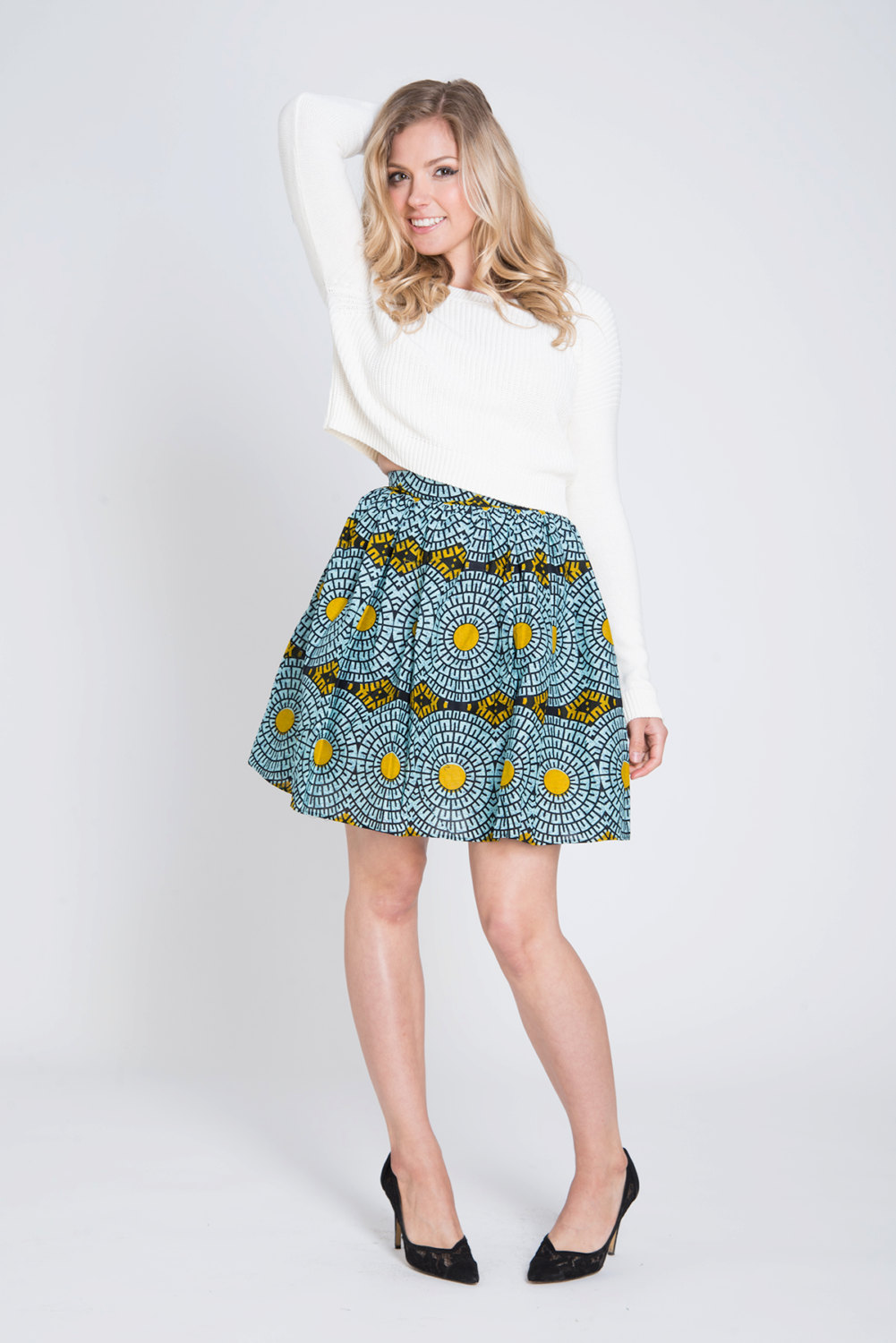 Tribal African Print Skirt