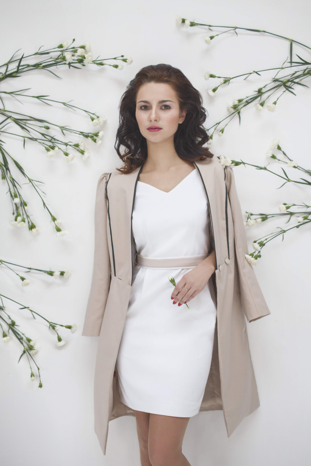 Romantic Light Beige Trench Coat