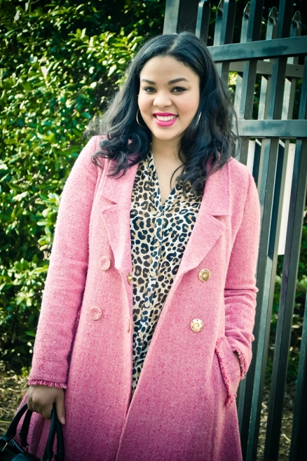 How to Wear Pink Coat